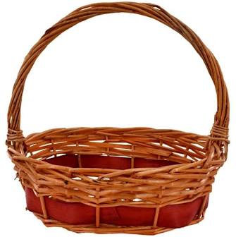 Large Basket for hamper with handle or without and straw