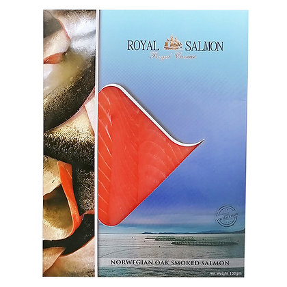 Norwegian Oak Smoked Salmon Pre-sliced - 100gr