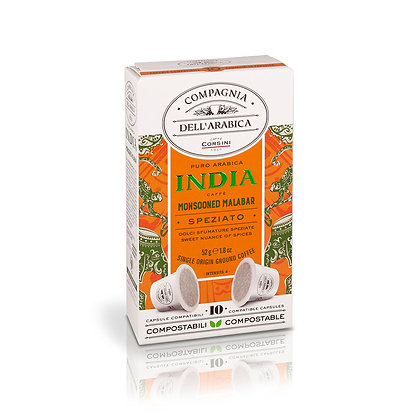 India Monsooned Malabar - 10 X 5.2gr Packet - Capsules