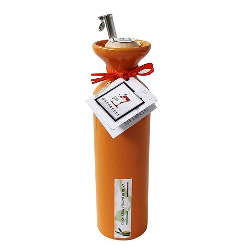 Extra Virgin Olive Oil in Ceramic Dispenser (Orange) 250ml