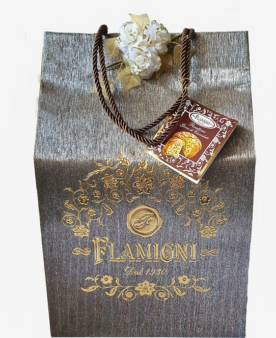 Panettone Flamigni With Chocolate Drop in Luxury Gift Bag