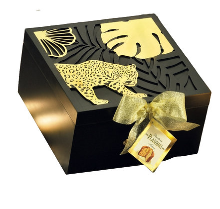 Gourmet Milano Panettone in Vintage Case Box with Metal Decor - 750g