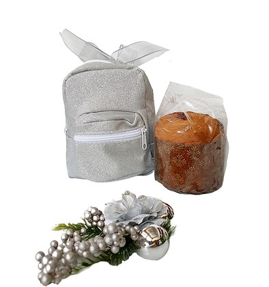 Mini Panettone in Sparkling Backpack