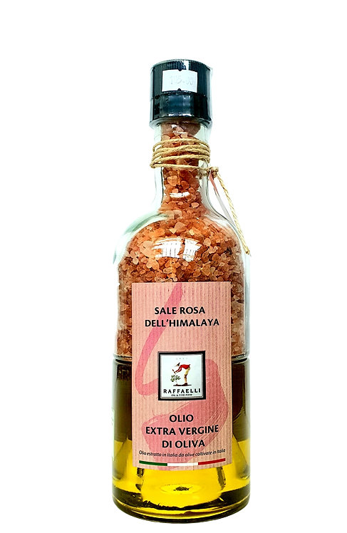 Italian Extra Virgin Olive Oil - 250ml and Pink Rock Salt from Himalaya - 300gr