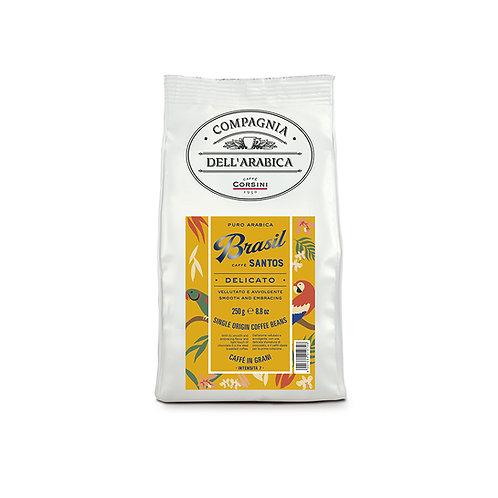 Brasil Santos Pure Arabica Coffee Beans - 250gr Packet