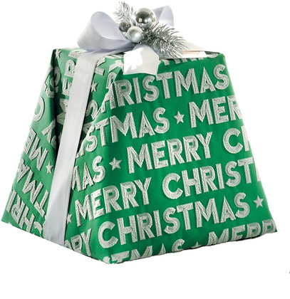 """The """"Merry Christmas"""" Luxury Pandoro Green Hand Wrapped 1kg"""