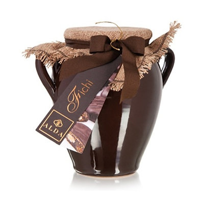Figs Covered by Dark Chocolate Individually Wrapped in Pot - 320gr