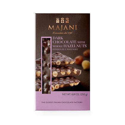 ASSORTED SNAPS Dark chocolate with whole hazelnuts 250gr