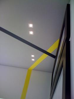 COLOR STRIPES AT CEILING
