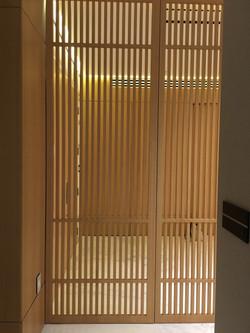 Wood Slats Door between Private and
