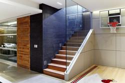 Stair to Main Floor, Basketball Hoop