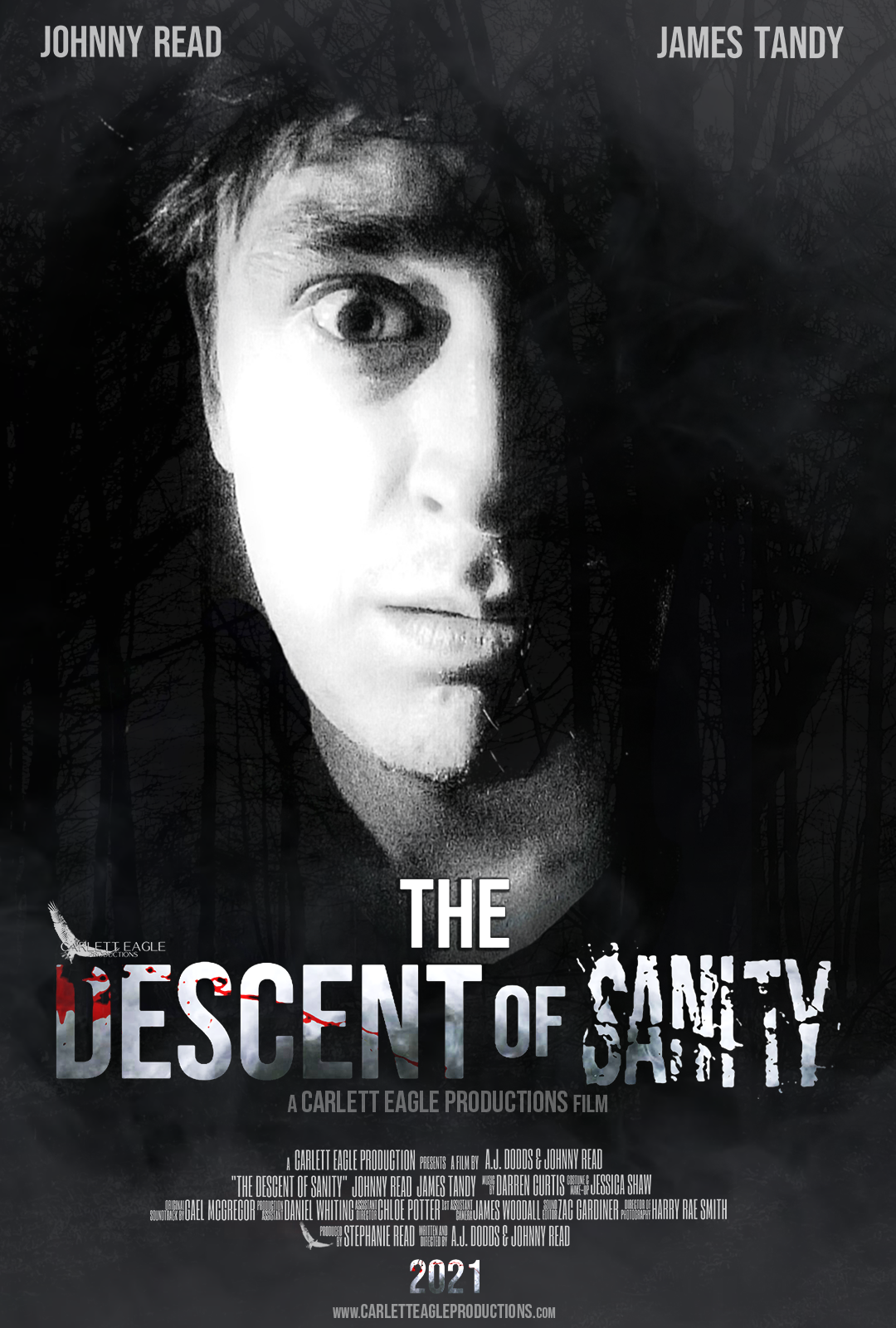 The Descent of Sanity Poster - James Tandy as Peter Thompson