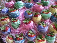 EASTER SPRINGTIME CHOCOLATE COVERED STRAWBERRY PLATTER