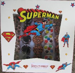 Superman Chocolate Birthday Party Box