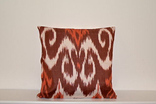 Brown Ikat Cushion Covers