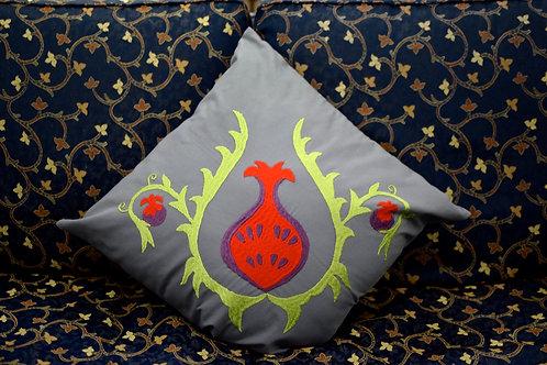 Grey Pomegranate Cushion Cover