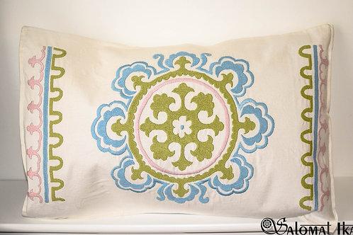 Rectangular throw cushion cover