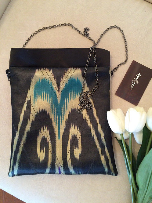 Stylish silk handbag