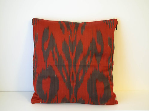Red and brown cushion