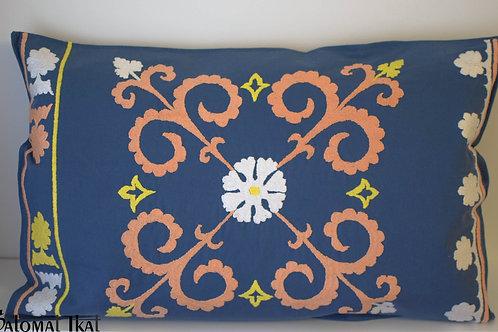 Rectangular suzani cushion cover