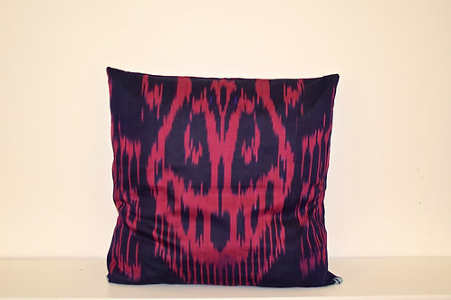 Pink/purple Ikat Cushion Cover