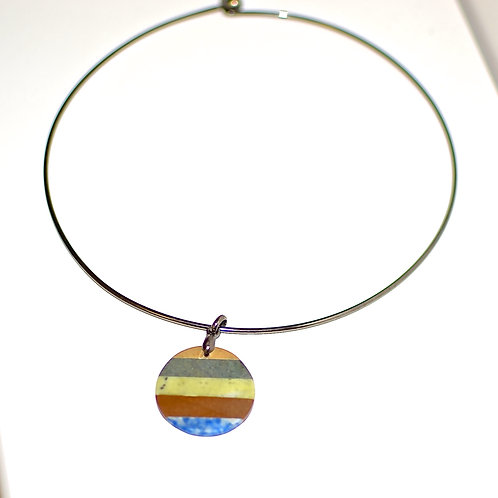 Rainbow pendant and necklace