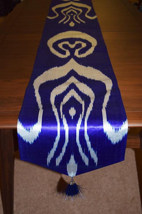 Silk Dark Blue Table Runner
