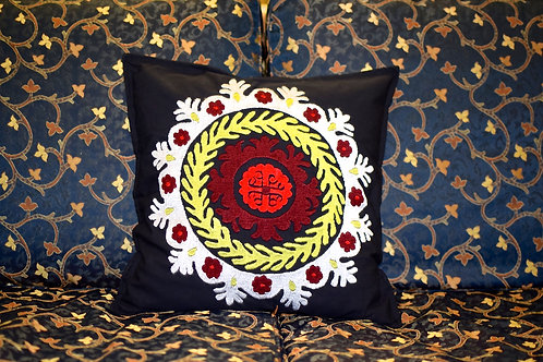 Davra Embroidered Cushion Cover