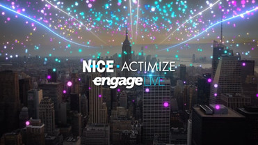 NICE ACTIMIZE Engage LIVE  Production by @studio37.me Creative Direction by @studio37.me Art Direction by @studio37.me @danliberman.tv Directed & Edited by @eitan_dorfman Design & Animation by @danliberman.tv Mix Sound by @nati_zeidenstadt