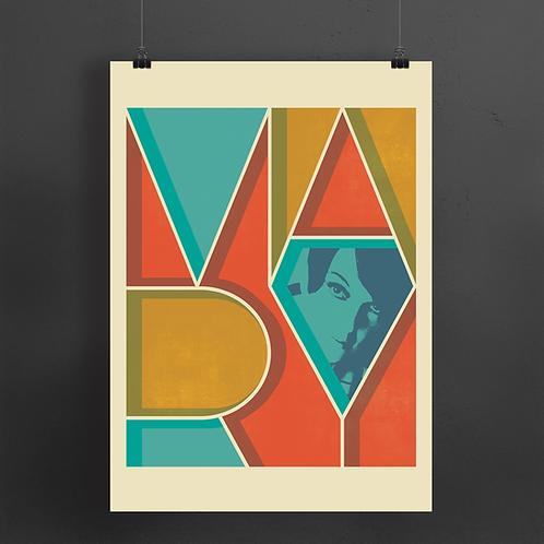 'Mary' Typography Print