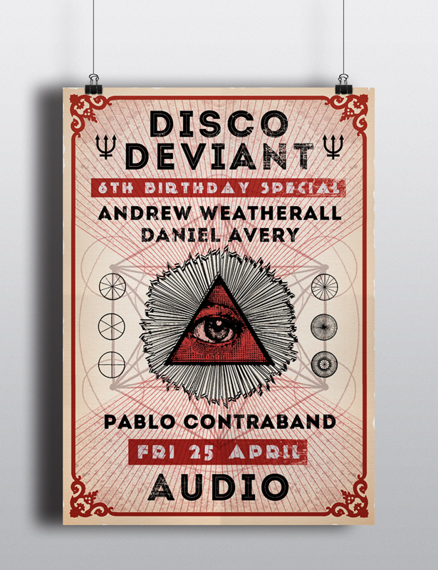 Disco Deviant Event Poster
