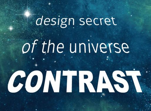 Contrast: The Design Secret of the Universe