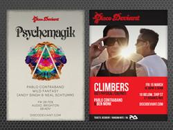 Disco Deviant Events Posters