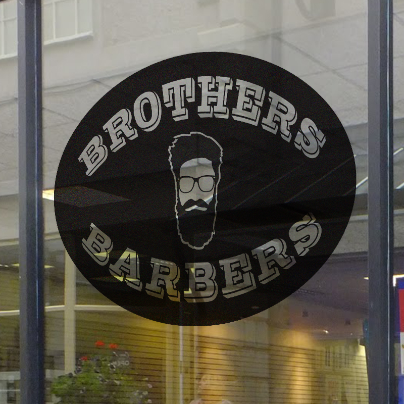 Brothers Barbers Window Decal