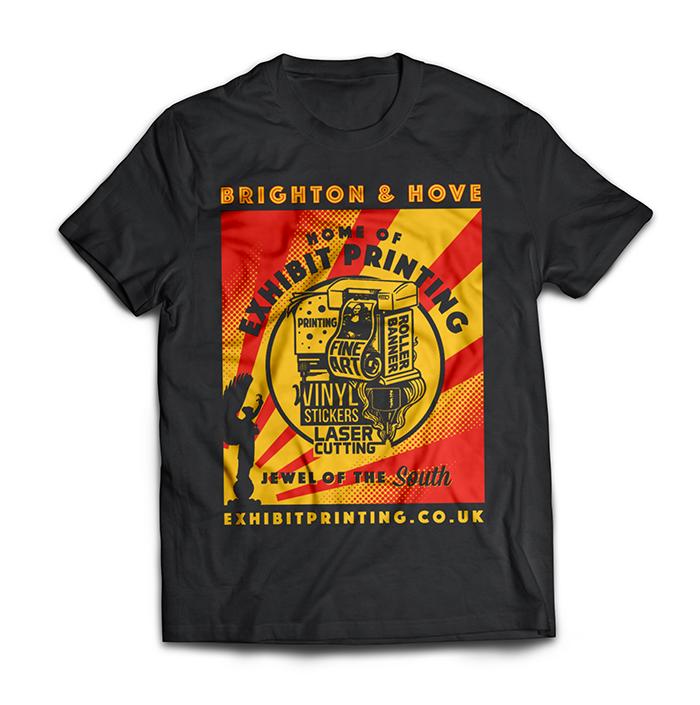 exhibit t-shirt