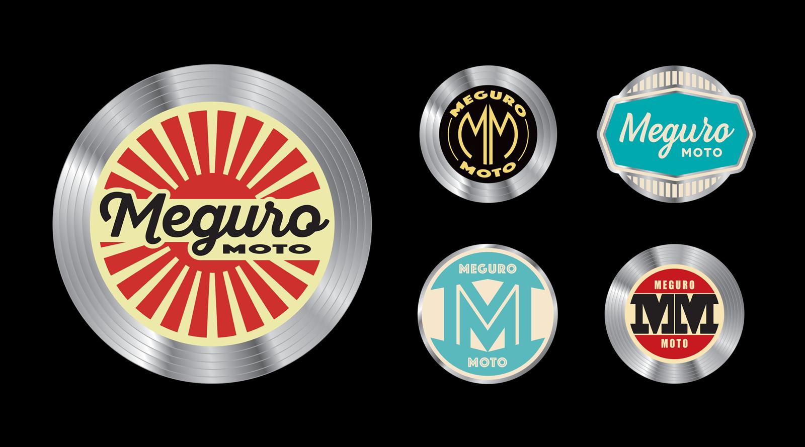 Meguro motorcycle logo development