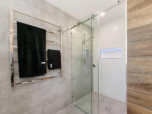 Frameless Shower Slider Kit - Wall to Wall