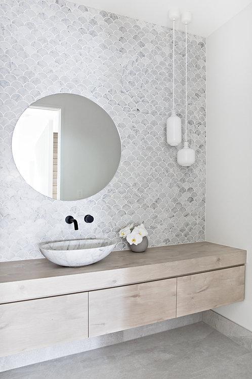Round Mirrors Flat Polish