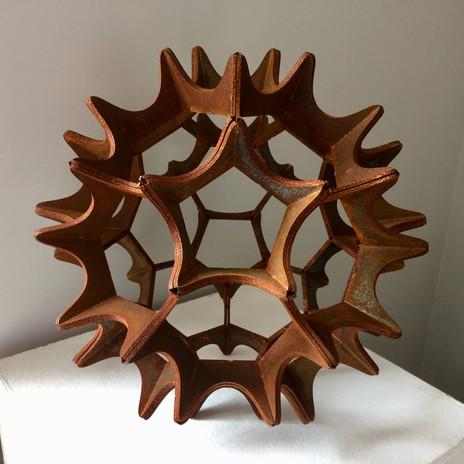 Small Virus.jpg Corten steel geometric s