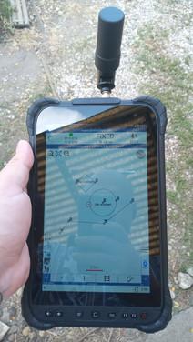 Térképalapú mérési képernyő
