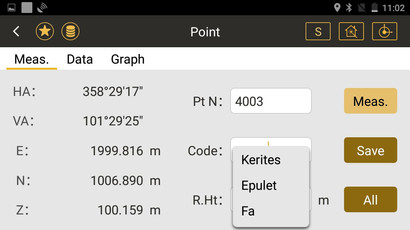 Mérési képernyő és kódolás