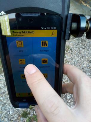 Survey Mobile főmenű