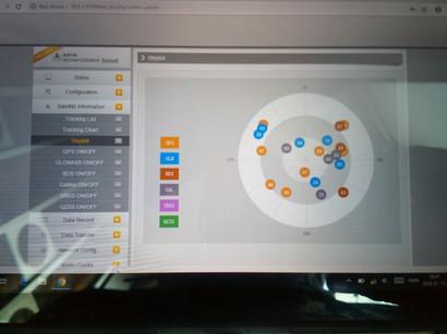 WebUI követett műholdakkal