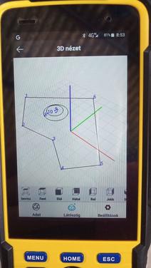 3D CAD nézet és eszköztár