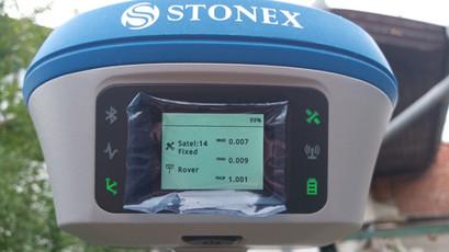 RTK FIX az érintőképernyőn