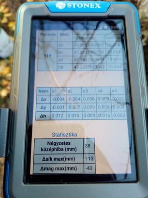 Kontrollpont mérési jegyzőkönyv
