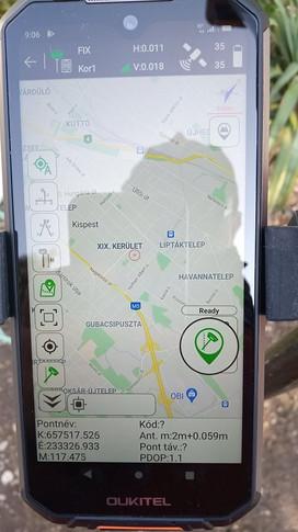 Mérés, Google térkép támogatással