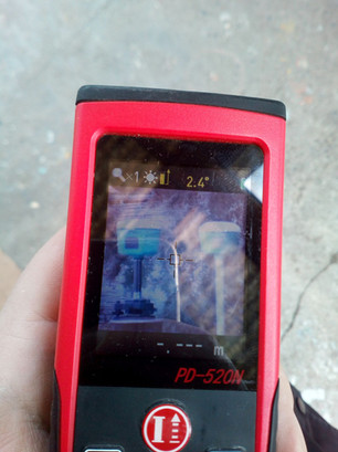 R6 vevők a Ruide PD-520N képalkotó kézitávmérő kijelzőjén