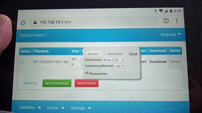 Statikus adatkonverzió a WebUI-n vezényelve