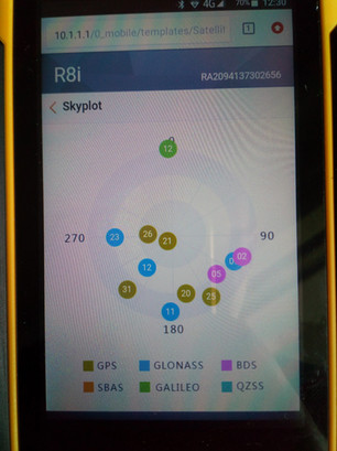 Rudie R8i: WebUI (Skyplot)